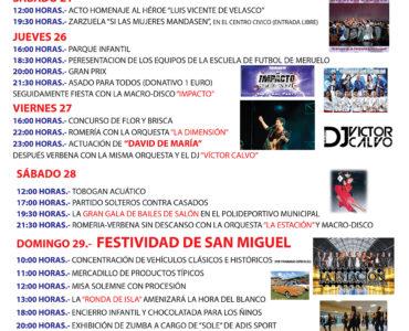 Programa de fiestas de San Miguel 2019