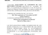 Exposición de listas electorales