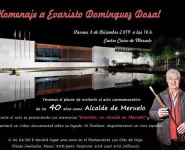 Homenaje al alcalde el día 6 de diciembre por los 40 años al frente del municipio