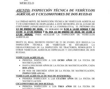 La Inspección Técnica de vehículos agrícolas en Meruelo