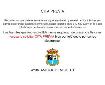 CITA PREVIA PARA LOS TRÁMITES QUE REQUIERAN PRESENCIA FÍSICA