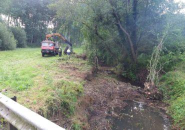 Actuacioes de la Confederación Hidrográfica del Cantábrico en el río Campiazo y arroyo Cabra en Meruelo